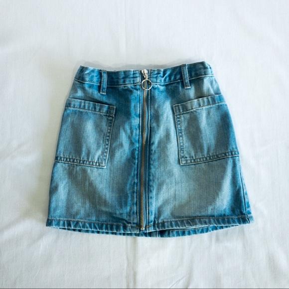 Children's Place Zippered Blue Denim Skirt -Size 6